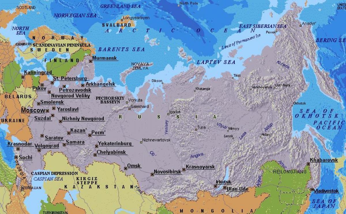 karta rusije Moskva karta Rusije   karta u Moskvi (Rusija) karta rusije